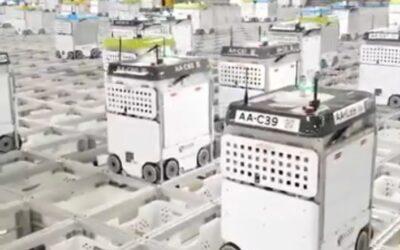 Robots están empacando pedidos de supermercado