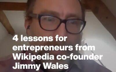 4 consejos del cofundador de Wikipedia para emprendedores