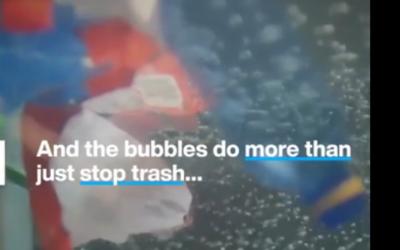 Burbuja que atrapa desechos plásticos en los ríos antes que lleguen al océano
